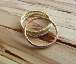 Mixed Metal Stacking Rings $12 each; Revival San Clemente